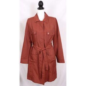 Overcoat Jacket Pea Coat - Rust